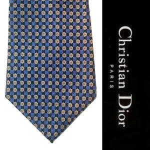 Vintage Christian Dior 100% Silk Necktie Floral